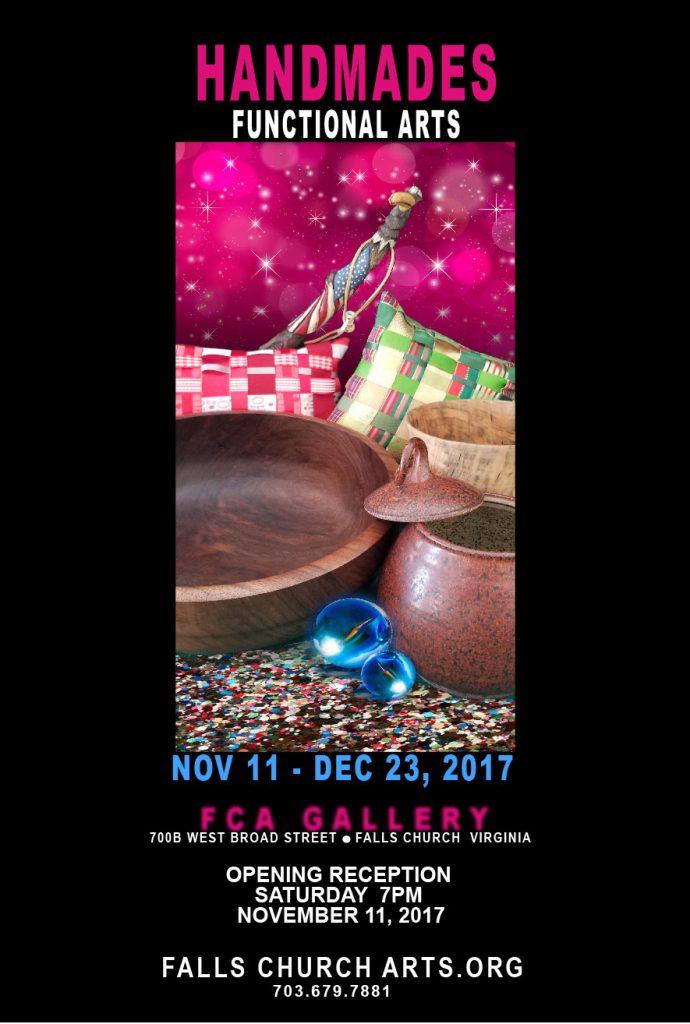 Handmades functional art show poster