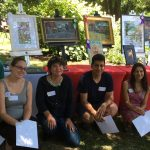 2018 Plein Air prize winners Robert Gilbert, Caitlin Hillyard, Jill Banks, Rajendra KC, Veronica Howard, Christina Girardi (not shown, Patricia Walach Keough)