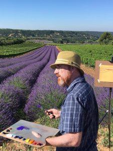 Glen Kessler painting lavender